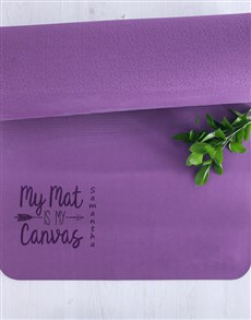 gifts: Personalised Canvas Yoga Mat!