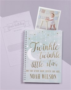 gifts: Personalised Twinkle Babys First Year Journal!