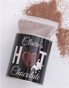 gifts: Personalised Hot Chocolate Tin!