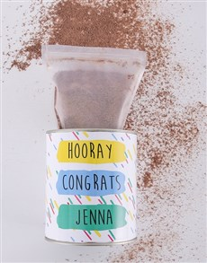 gifts: Personalised Congratulations Hot Chocolate Tin!