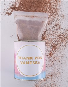 gifts: Personalised Thank You Hot Chocolate Tin!