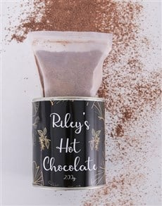 gifts: Personalised Hot Chocolate Leafy Tin !