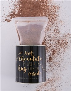 gifts: Personalised Black and Gold Hot Chocolate Tin!