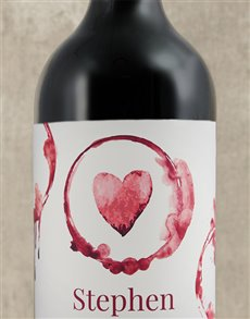 gifts: Personalised Heart Wine!