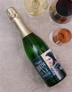 gifts: Happy Birthday Personalised Photo Wine!