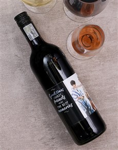 gifts: Good Times Personalised Photo Wine!