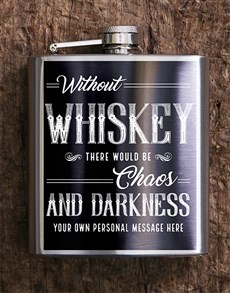 gifts: Personalised Chaos Hip Flask!