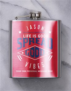 gifts: Personalised Good Times Hip Flask!