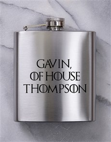 gifts: Personalised GOT Hip Flask!