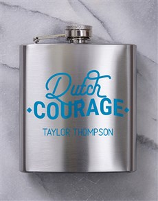 gifts: Personalised Dutch Courage Hip Flask!