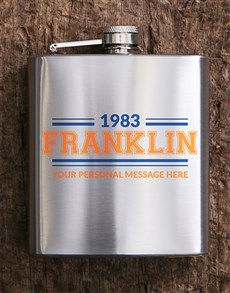 gifts: Personalised Retro Hip Flask!