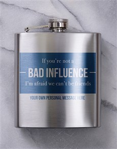 gifts: Personalised Bad Influence Hip Flask!
