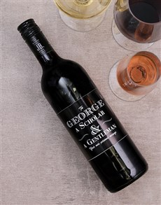 gifts: Personalised Gentleman and Scholar Wine!