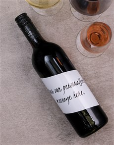 gifts: Personalised Handwritten Wine!