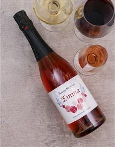 gifts: Personalised Birthday Wreathe Wine!