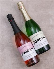 gifts: Personalised Geometric Wine Duo!