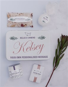gifts: Personalised Bathtub Spoils Keepsake Box!