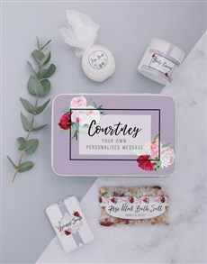 gifts: Personalised Rose Bath Keepsake Box!