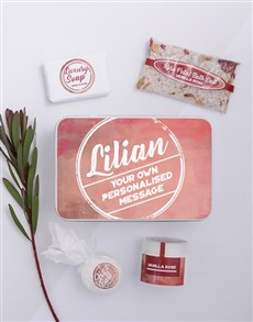 gifts: Personalised Dusty Pink Bath Keepsake Box!