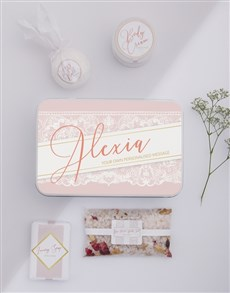 gifts: Personalised Lace Bath Keepsake Box!