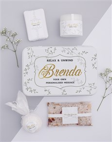gifts: Personalised Relax and Unwind Keepsake Box!