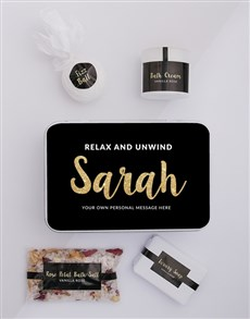 gifts: Personalised Gold Bath Keepsake Box!