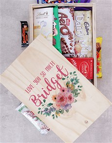 gifts: Personalised Love You So Much Chocolate Crate!