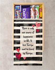 gifts: Personalised Love and Happiness Chocolate Crate!