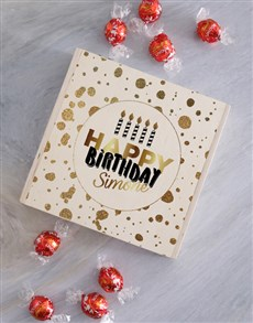 gifts: Personalised Wooden Birthday Gold Box!