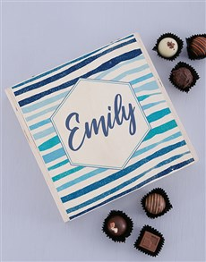 gifts: Personalised Wooden Striped Box!