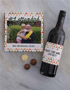 gifts: Personalised Grandad Photo Choc Tray!
