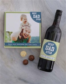 gifts: Personalised Best Dad Photo Choc Tray!