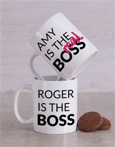 gifts: Personalised Boss Couples Mug Set!