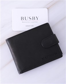 gifts: Personalised Black Busby Gents Wallet!