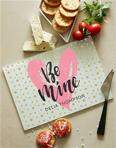 gifts: Love and Romance Glass Chopping Board!
