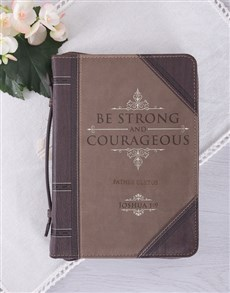 gifts: Personalised Be Strong & Courageous Bible Case!