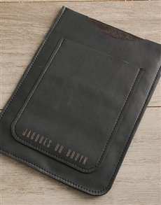 gifts: Personalised Black Leather Tablet Cover!