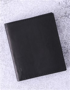 gifts: Personalised Busby Pygmy Black Bilfold Wallet!