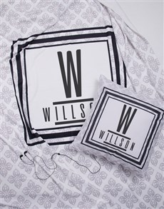 gifts: Personalised Modern Name Blanket or Cushion!