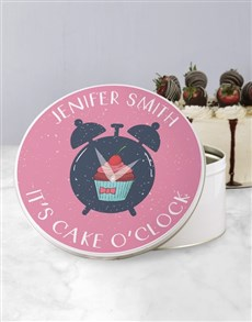 gifts: Personalised Cake O Clock Cookie Tin !
