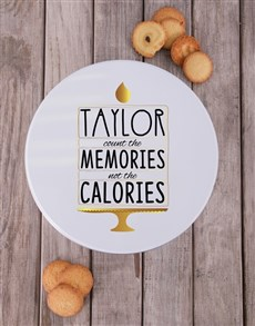 gifts: Personalised Count The Memories Cookie Tin!
