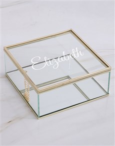 gifts: Personalised Glass Trinket Box!