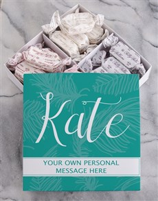 gifts: Personalised Leaf Sally Williams Nougat Box!