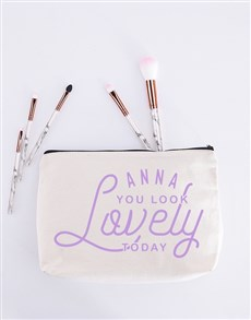 gifts: Personalised You Look Lovely Cosmetic Bag!