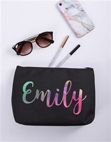 gifts: Personalised Watercolour Cosmetic Bag!