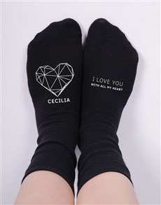 gifts: Personalised I Love You Socks!
