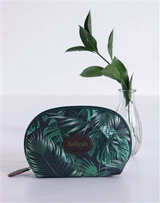 gifts: Personalised Botanical Flower Cosmetic Bag!