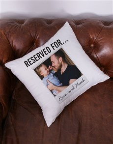gifts: Personalised Reserved Photo Scatter Cushion!