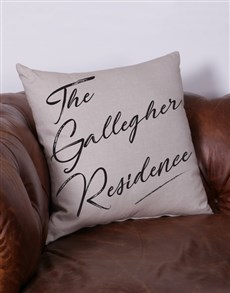 gifts: Personalised Residence Scatter Cushion!