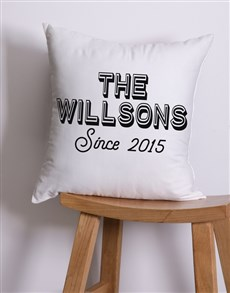 gifts: Personalised Retro Family Scatter Cushion!